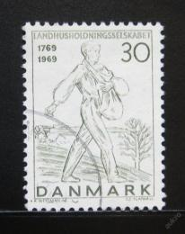 Poštovní známka Dánsko 1969 Rozsévaè Mi# 474