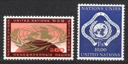 Poštovní známky OSN Ženeva 1970 Symboly OSN Mi# 9-10