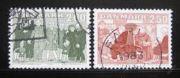 Poštovní známky Dánsko 1983 Senioøi ve spoleènosti Mi# 788-89