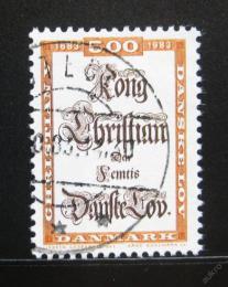 Poštovní známka Dánsko 1983 Zákoník Kristiána V. Mi# 784
