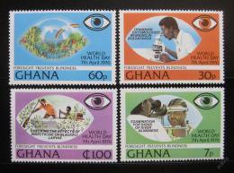 Poštovní známky Ghana 1976 Boj proti slepotì Mi# 658-61 Kat 19€