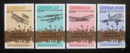 Poštovní známky Ghana 1978 Letadla Mi# 738-41
