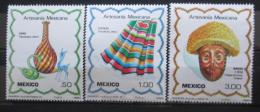 Poštovní známky Mexiko 1980 Øemeslné umìní Mi# 1733-35
