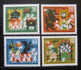 Poštovní známky Nìmecko 1963 Vlk a sedm kùzlátek Mi# 408-11