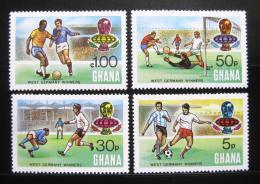 Poštovní známky Ghana 1974 MS ve fotbale pøetisk Mi# 581-84
