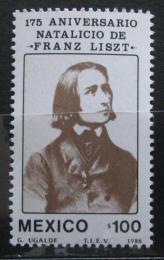 Poštovní známka Mexiko 1986 Franz Liszt Mi# 2004