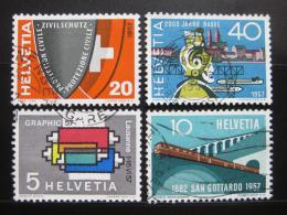 Poštovní známky Švýcarsko 1957 Výroèí a události Mi# 637-40