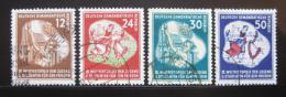 Poštovní známky DDR 1951 Festival mládeže Mi# 289-92 Kat 25€
