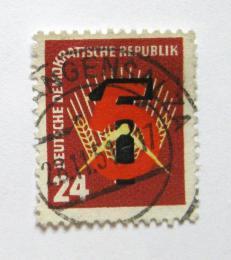 Poštovní známka DDR 1951 Pìtiletý plán Mi# 293