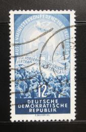 Poštovní známka DDR 1954 Konference ètyøech mocností Mi# 424
