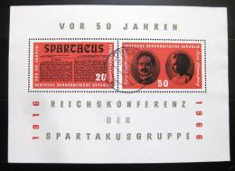 Poštovní známky DDR 1966 Organizace Spartakus Mi# Bl 25