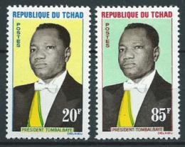 Poštovní známky Èad 1963 Prezident Tombalbaye Mi# 94-95