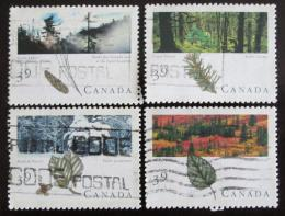 Poštovní známky Kanada 1990 Kanadské lesy Mi# 1191-94