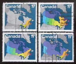 Poštovní známky Kanada 1981 Mapy Mi# 801-04