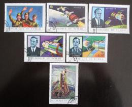 Poštovní známky Èad 1972 Program Soyuz 11 Mi# 450-55