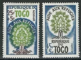 Poštovní známky Togo 1960 Rok uprchlíkù Mi# 283-84