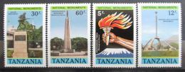 Poštovní známky Tanzánie 1988 Národní památníky Mi# 508-11