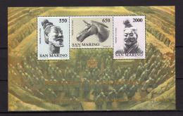 Poštovní známky San Marino 1986 Vztahy s Èínou Mi# Block 10