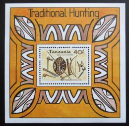 Poštovní známka Tanzánie 1992 Lovecké zbranì Mi# Block 196