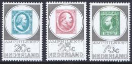 Poštovní známky Nizozemí 1967 Výstava Amphilex Mi# 880-82 Kat 10€
