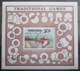 Poštovní známka Tanzánie 1988 Tradièní hry Mi# Block 69