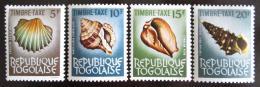 Poštovní známky Togo 1964 Mušle, doplatní Mi# 66-69