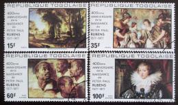Poštovní známky Togo 1977 Umìní, Rubens Mi# 1245-48