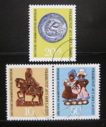 Poštovní známky DDR 1969 Lužické lidové umìní Mi# 1521-23 Kat 9€