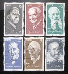 Poštovní známky DDR 1971 Osobnosti Mi# 1644-49