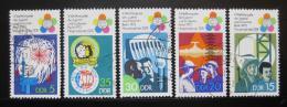 Poštovní známky DDR 1973 Festival mládeže Mi# 1862-66