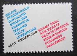 Poštovní známka Nizozemí 1979 Evropský parlament Mi# 1134