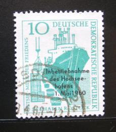 Poštovní známka DDR 1960 Pøístav v Rostocku Mi# 763