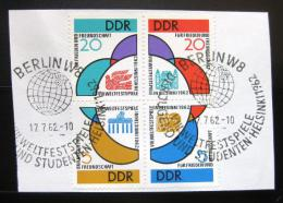 Poštovní známky DDR 1962 Festival mládeže Mi# 901-04 Kat 40€
