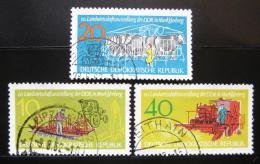 Poštovní známky DDR 1962 Zemìdìlská výstava Mi# 895-97