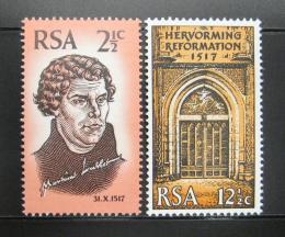 Poštovní známky JAR 1967 Reformace Mi# 359-60