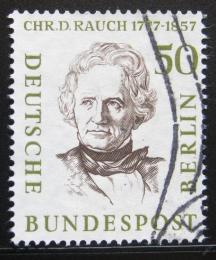 Poštovní známka Západní Berlín 1957 Christian D. Rauch, sochaø Mi# 172
