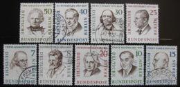 Poštovní známky Západní Berlín 1957-59 Slavní muži Mi# 163-67,169-72