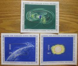 Poštovní známky DDR 1964 Mezinárodní rok Slunce Mi# Block 20-22 Kat 24€