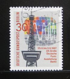 Poštovní známka Západní Berlín 1967 Rádiová vìž Mi# 309