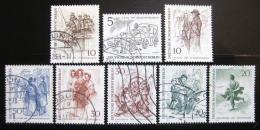 Poštovní známky Západní Berlín 1969 Berlíòané 19. století Mi# 330-37