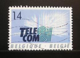 Poštovní známka Belgie 1991 Výstava TELECOM Mi# 2479