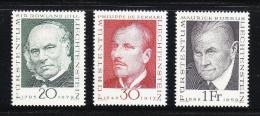 Poštovní známky Lichtenštejnsko 1968 Prùkopníci filatelie Mi# 503-05