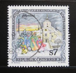 Poštovní známka Rakousko 1997 Folklór, Burgundsko Mi# 2208