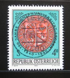 Poštovní známka Rakousko 1990 Hornická univerzita Mi# 2007