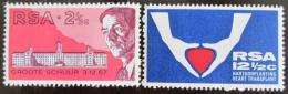 Poštovní známky JAR 1969 Transplantace srdce Mi# 382-83