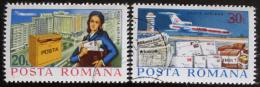 Poštovní známky Rumunsko 1977 Doruèování pošty Mi# 3439-40