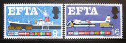 Poštovní známky Velká Británie 1967 Zóna volného obchodu Mi# 444-45