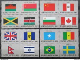 Poštovní známky OSN New York 1983 Vlajky ètyøbloky Mi# 422-37
