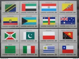 Poštovní známky OSN New York 1984 Vlajky ètyøbloky Mi# 448-63