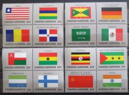 Poštovní známky OSN New York 1985 Vlajky ètyøbloky Mi# 472-87